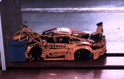 Watch a LEGO Porsche 911 GT3 RS Undergo a Crash Test