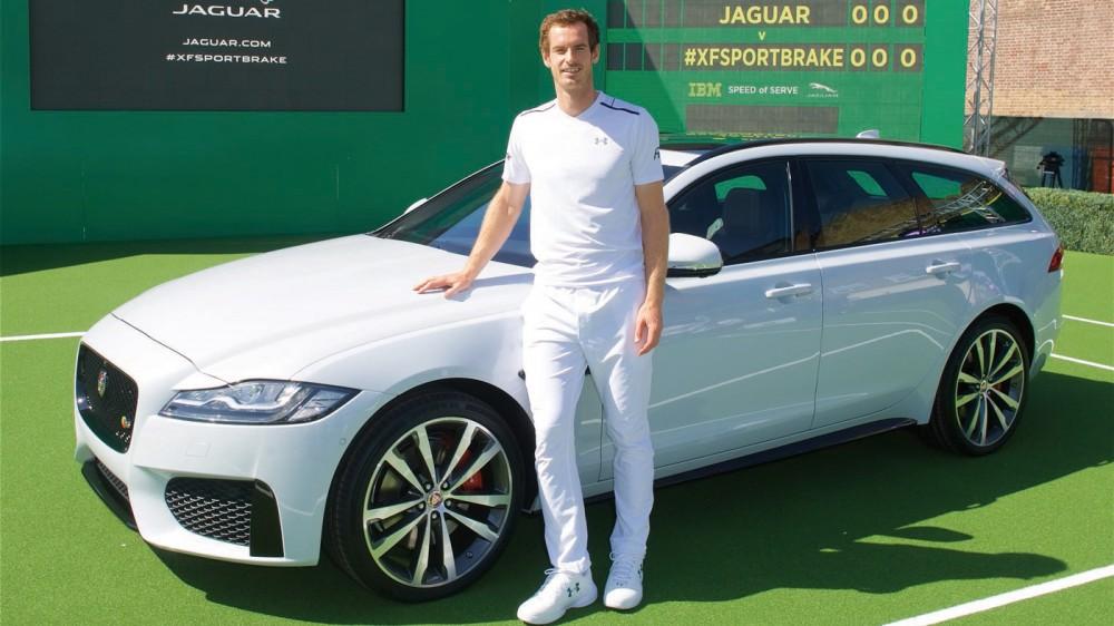 Tennis Titan Andy Murray Debuts the New Jaguar XF Sportbrake