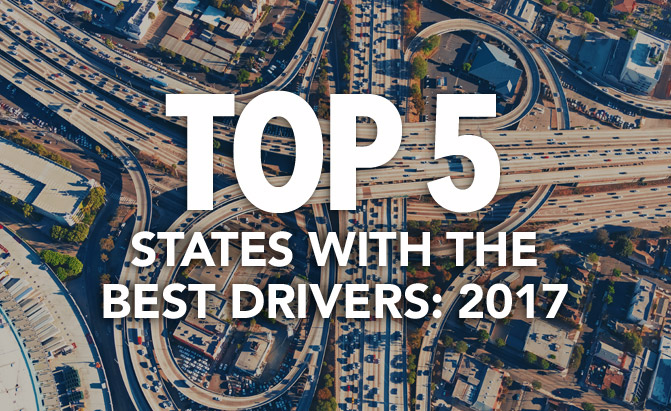 Top 5 States with the Best Drivers: 2017