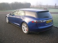 World's First Tesla Model S Wagon isn't Very Pretty