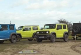 Three Suzuki Jimnys Gang Up on Mercedes-AMG G63 in Tug of War