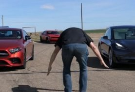 Tesla Model 3 Smashes Mercedes-AMG CLS 53 and Hellcat in Drag Race