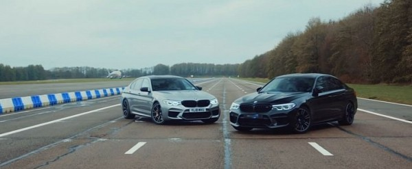 BMW M5 Competition Drag Races Tuned M5, Outcome is Predictable