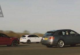 Cayenne Turbo vs. Bentayga W12 vs. Stelvio Q: the Drag Race / Showdown