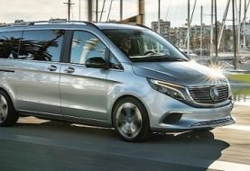 2020 Mercedes-Benz EQV Shows Up in Barcelona, Causes a Stir
