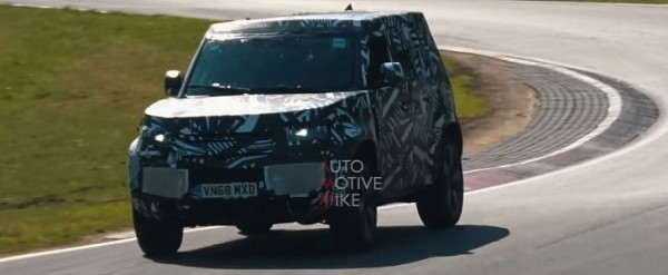 2020 Land Rover Defender Testing Air Suspension at the Nurburgring