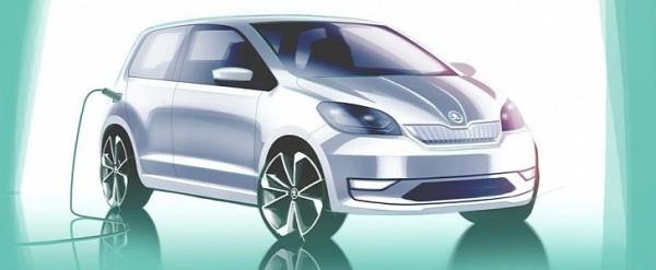Skoda Citigo EV Design Sketch Reveals the Obvious