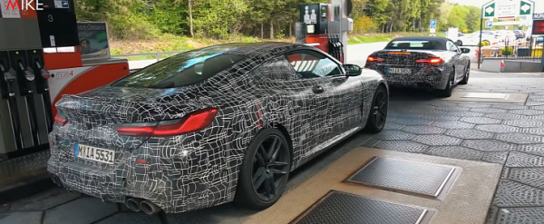 2020 BMW M8 Coupe and Convertible Captured Together, Chase on 'Ring