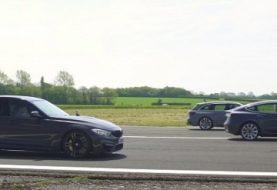 Tesla Model 3 Drag Races Audi RS4 and BMW M3, Demolition in Insane