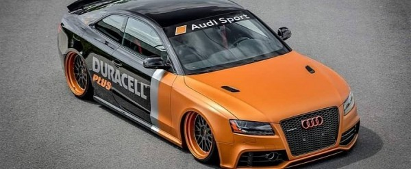 Old Audi RS5 Coupe Gets Duracell Battery Makeover