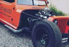 Danton Jeep Wrangler Hot Rod for Sale in France, Has V8 and  Daihatsu Sister