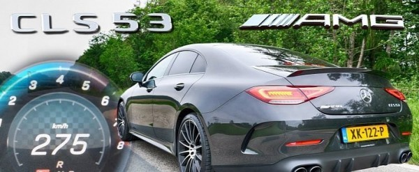 Mercedes-AMG CLS 53 Goes to 275 KM/H in Acceleration Test