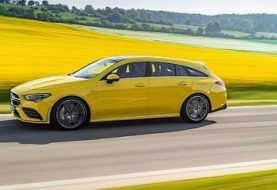 2020 Mercedes-AMG CLA 35 Shooting Brake Revealed in Eye-Popping Yellow