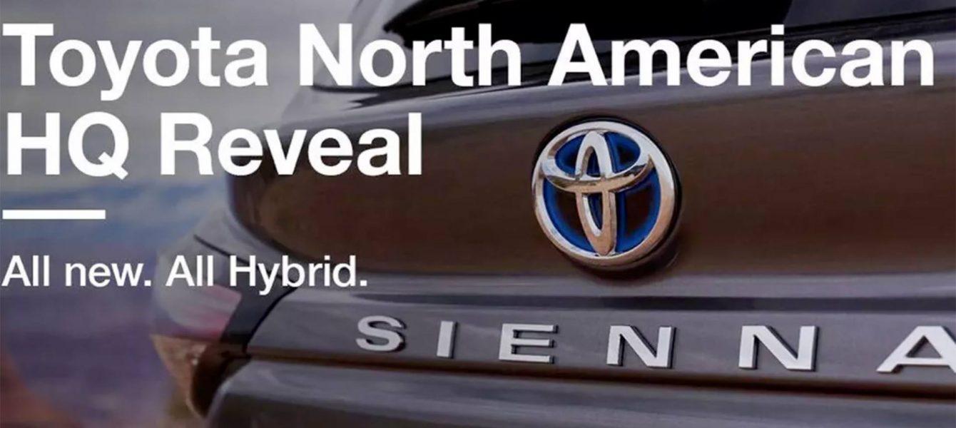 2021 Toyota Sienna Hybrid Leaks on Twitter