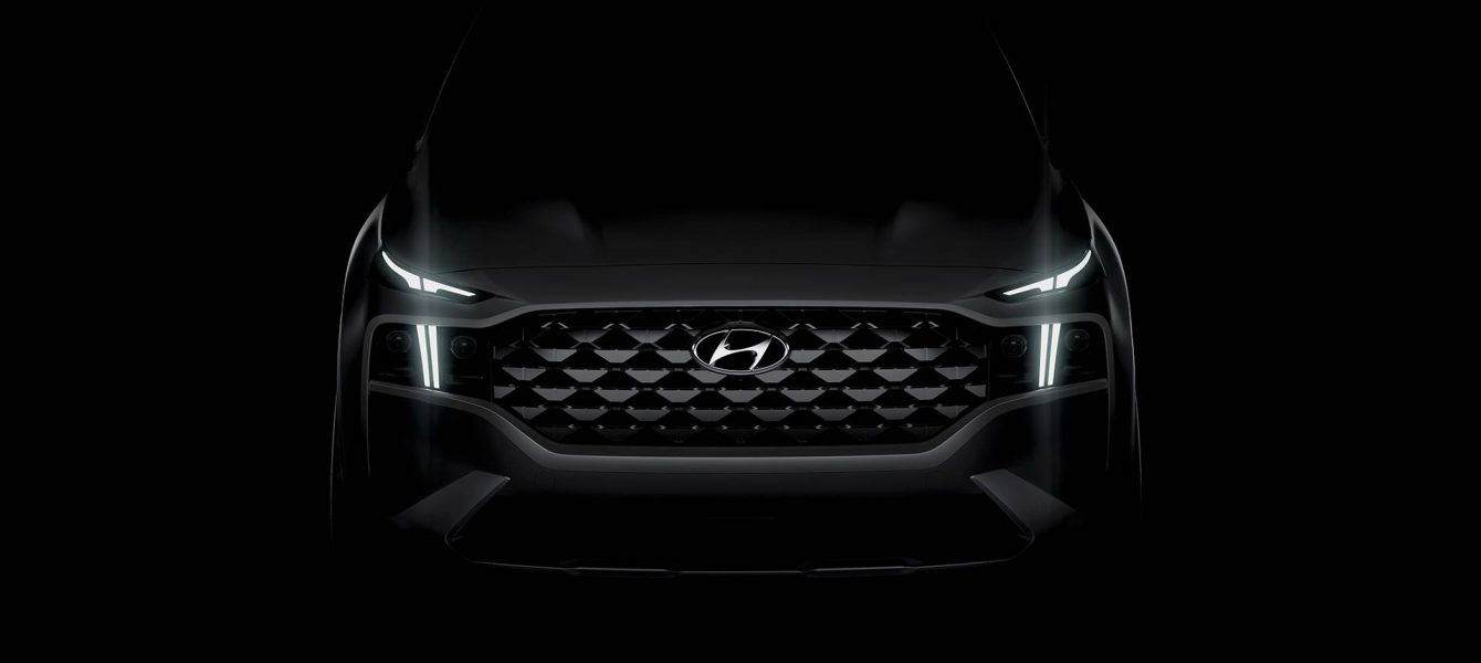 2021 Hyundai Santa Fe Teaser Shows Expressive New Face