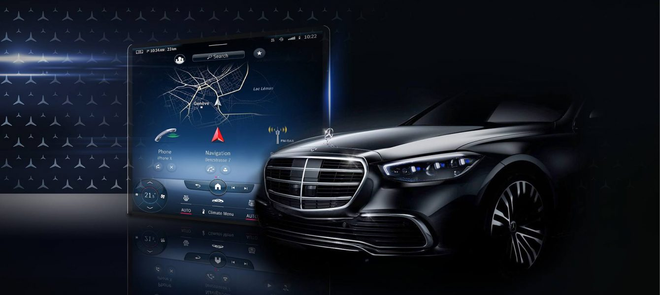 2021 Mercedes-Benz S-Class Teaser Shows Huge Interior Screen and Augmented HUD